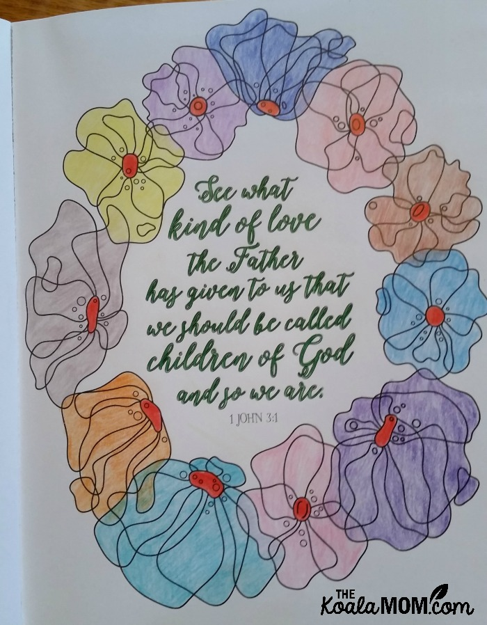 Live Loved: An Adult Colouring Book with 1 John 3:4