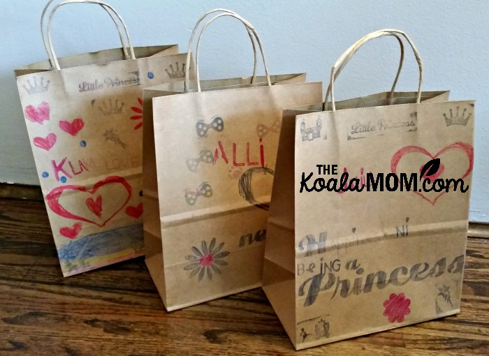 Birthday party gift bags
