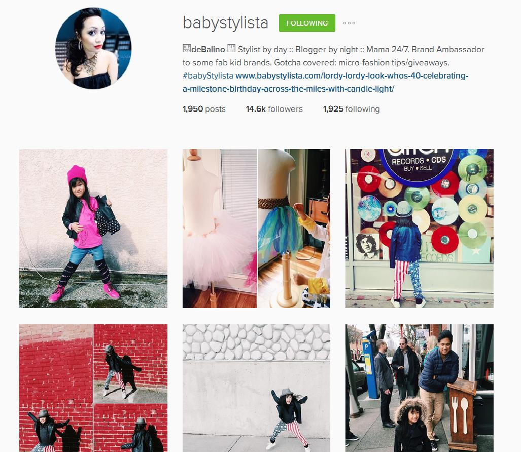 Blogger and Stylist DeBalino on Instagram