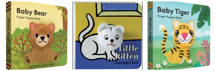 Finger Puppet Books from Raincoast Books: Baby Bear, Little Kitten, and Baby Tiger