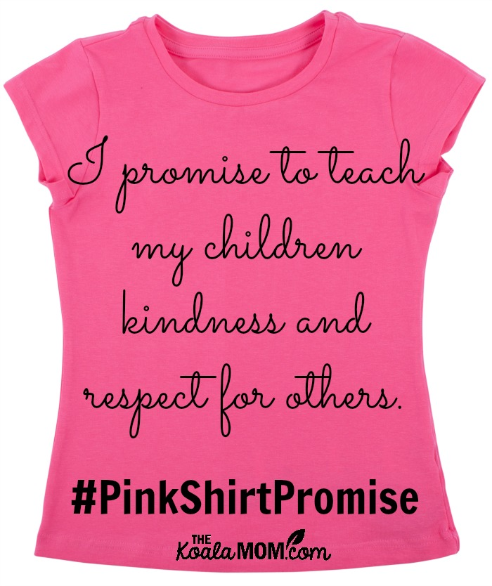 I promise to teach my children kindness and respect for others.
