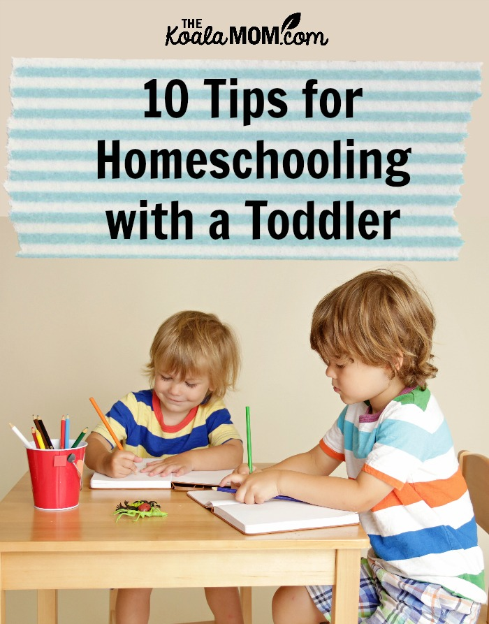 10 tips for homeschooling with a toddler