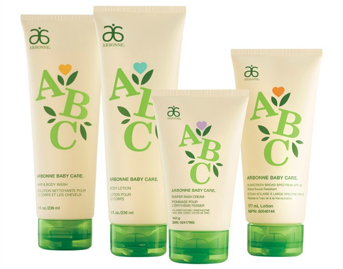 Arbonne Baby Care Set - lotion, sunscreen, diaper rash cream, and hair & body wash - are natural eczema remedies