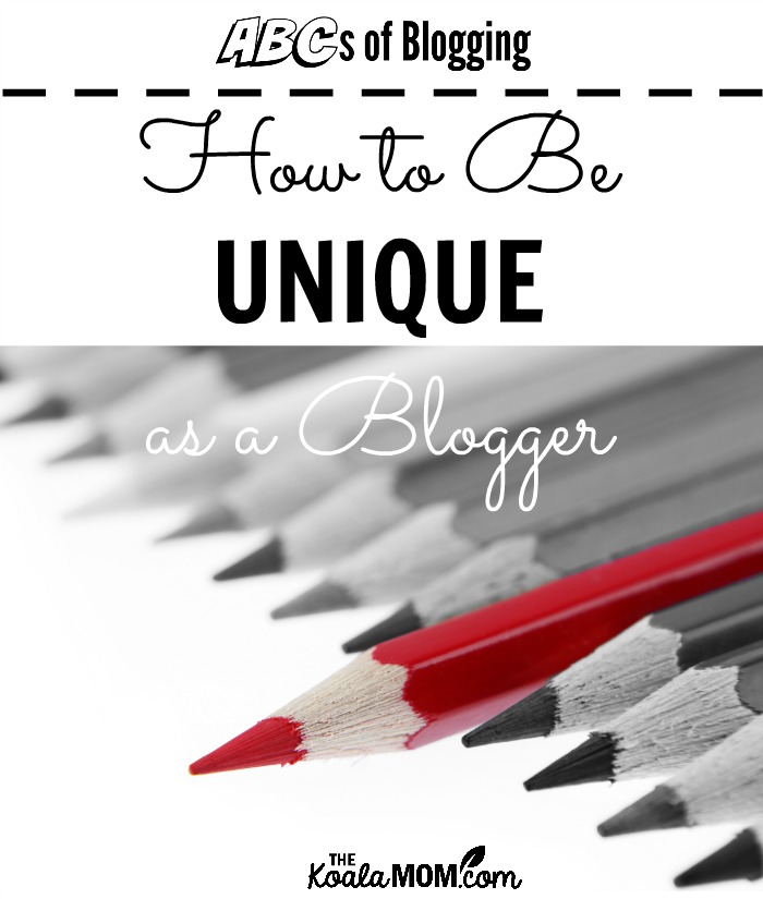 How to be unique as a blogger (one red pencil in a row of grey pencils)