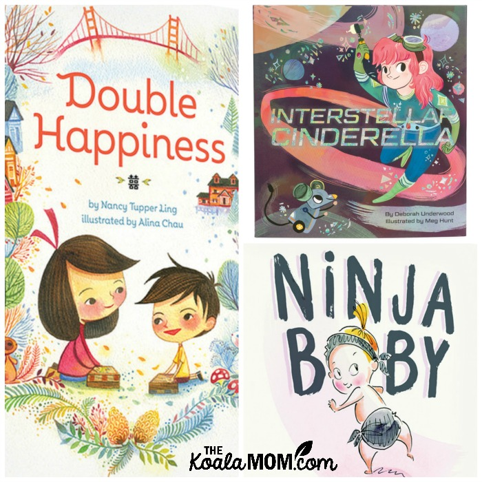 3 books to inspire your child's creativity (Double Happiness, Interstellar Cinderella and Ninja Baby)