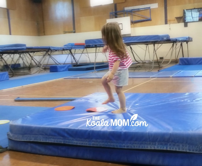 3-year-old at gymnastics