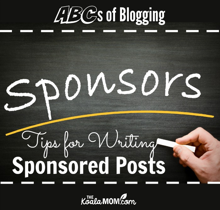 Tips for Writing Sponsored Posts