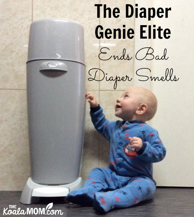 The Diaper Genie Elite ends bad diaper smells