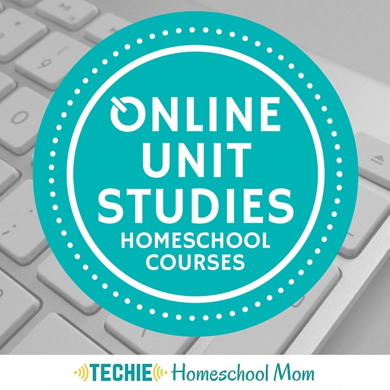 Interactive online unit studies homeschool courses by the Techie Homeschool Mom
