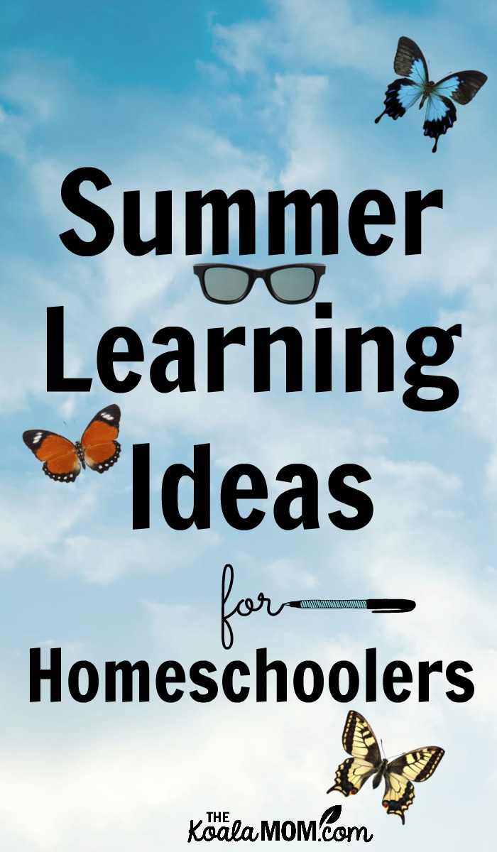 Summer Learning Ideas for Homeschoolers
