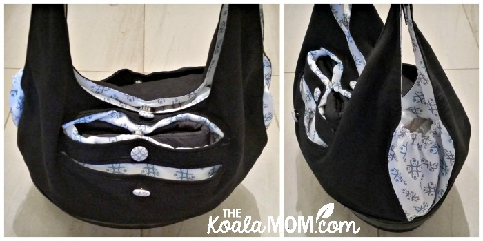 Two views of the EquiptBaby diaper bag