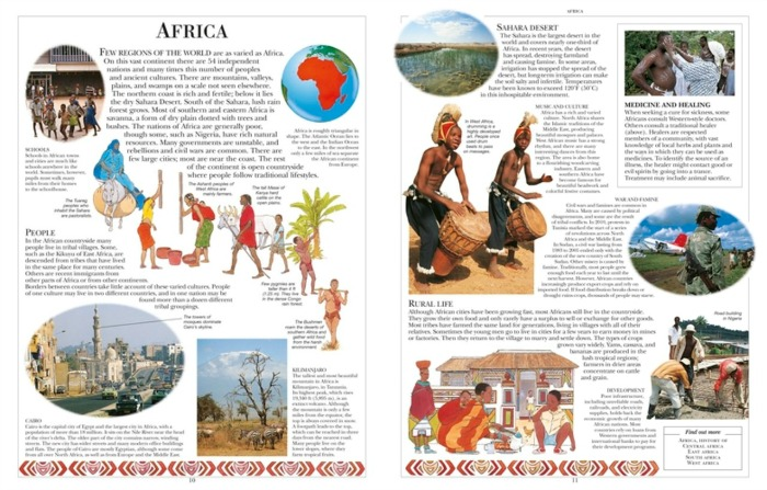 The Africa page from the Children's Illustrated Encyclopedia from DK Canada