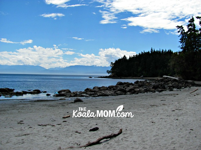 The beach at East Sooke Park, one of our favourite beaches near Victoria, BC