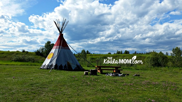 A heritage tipi at Rocky Mountain House National Historic Site