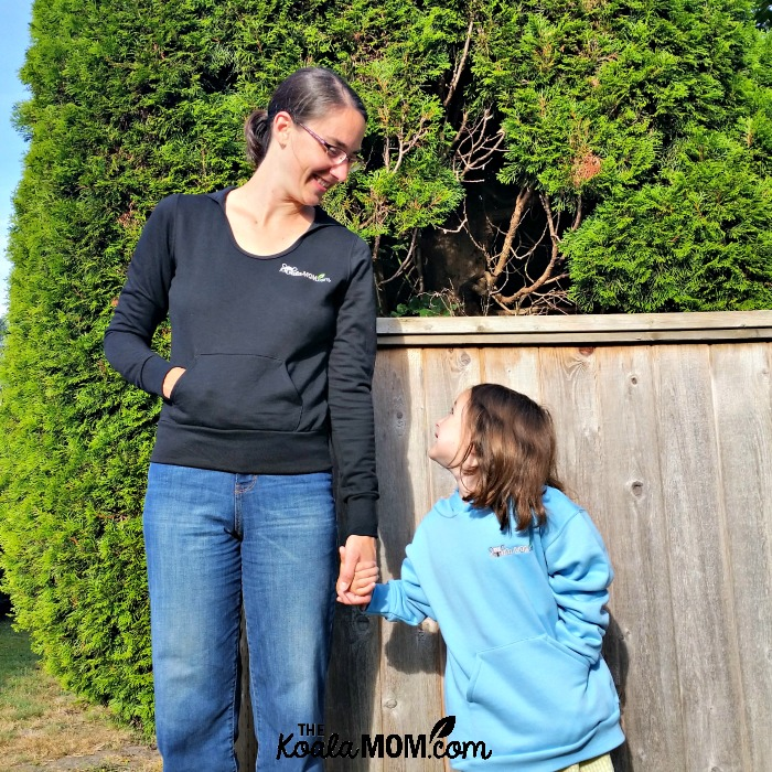 Mother-daughter hoodies from Bravo Apparel, a Canadian supplier of school clothing