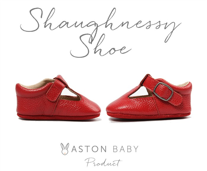 The Shaughnessy Shoe - red baby shoes from Aston Baby