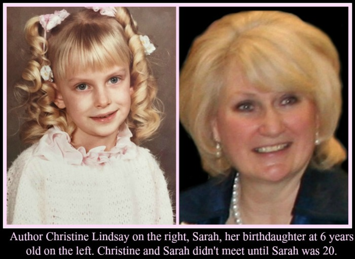 Author and birth mom Christine Linday and her birth daughter Sarah at age 6
