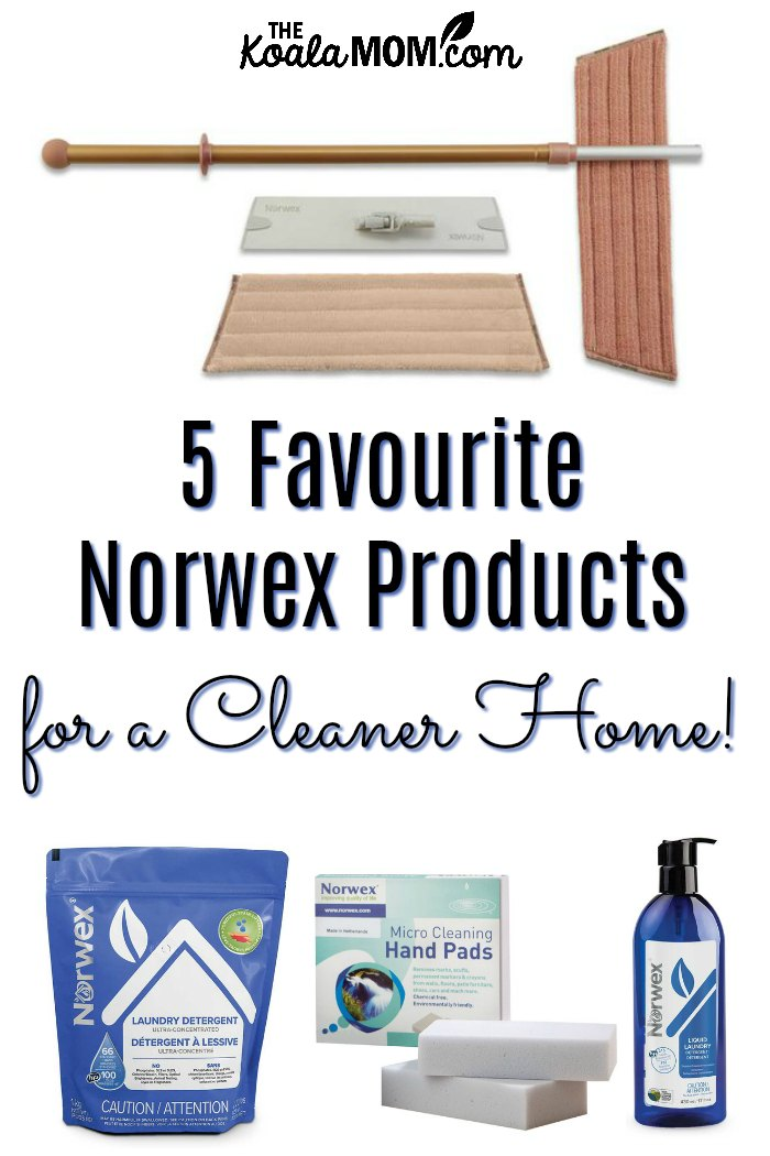 5 favourite Norwex products for a cleaner home.