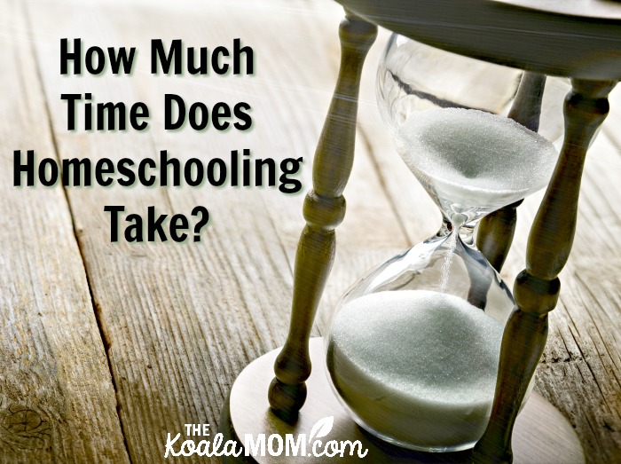 How much time does homeschooling take? (with hourglass)