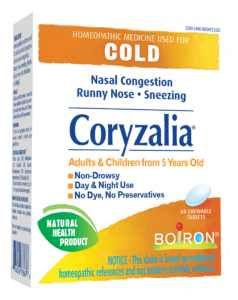 Boiron homeopathic cold remedies - Coryzalia