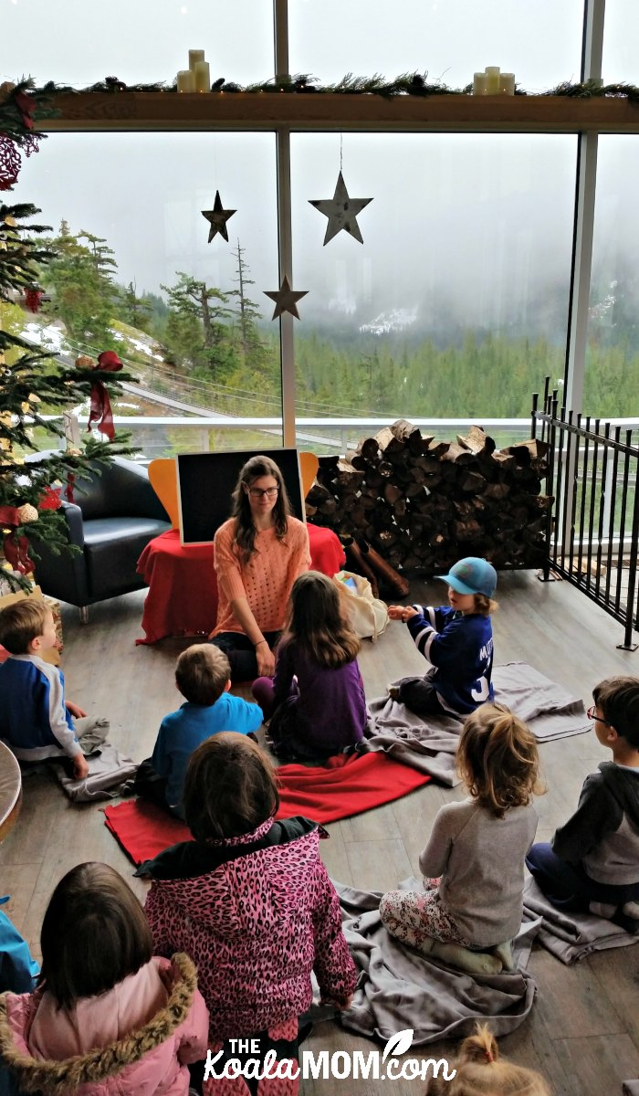 Winter storytime at the Sea to Sky Gondola