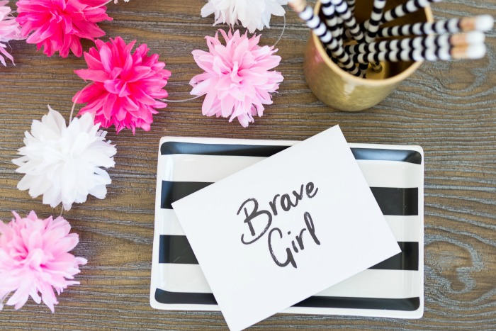 Brave Girl letter, given by Embrace Grave to a young, single mom