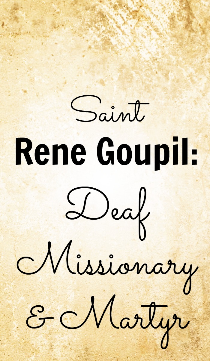 Saint Rene Goupil, deaf missionary and martyr