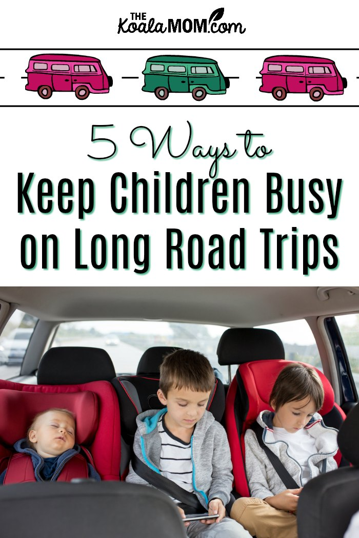 5 Ways to Keep Children Busy on Road Trips (with three kids in car seats)
