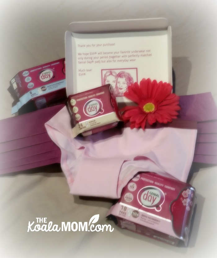 Genial Day natural, chemical-free personal hygiene products and underwear for women