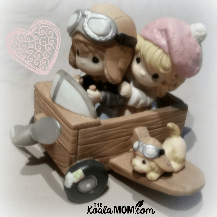 My Heart Soars When I'm With You Precious Moments figurine