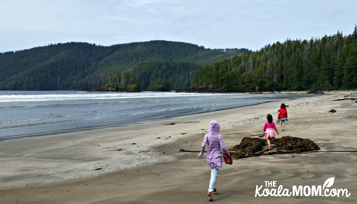 Exploring San Josef Beach in Cape Scott Provincial Park