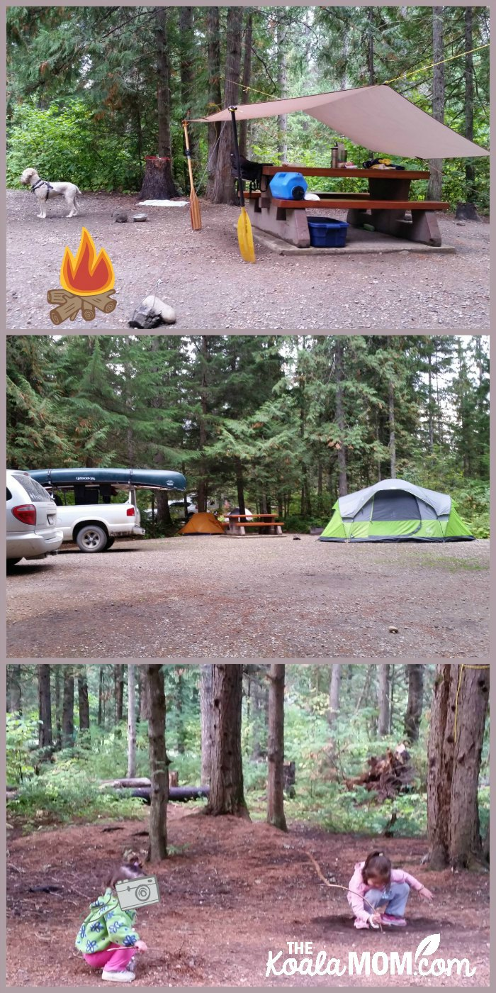 Clearwater Campground in Wells Gray Provincial Park