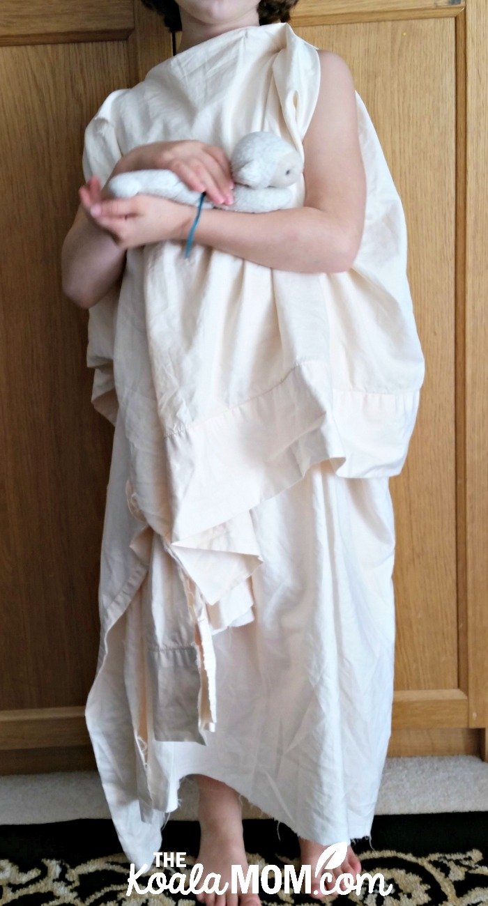 Saint Agnes of Rome costume - one of my easiest girls' saint costumes to create!