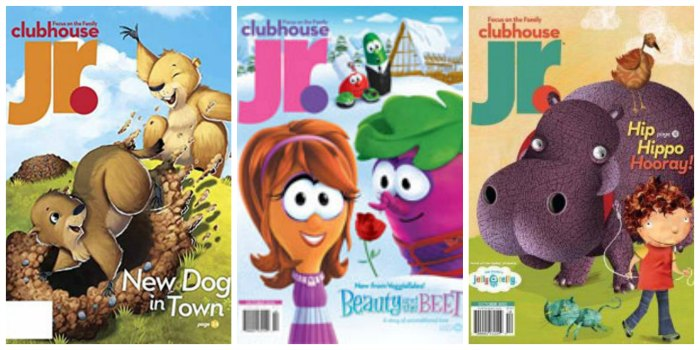 Clubhouse Jr. Magazine from Focus on the Family