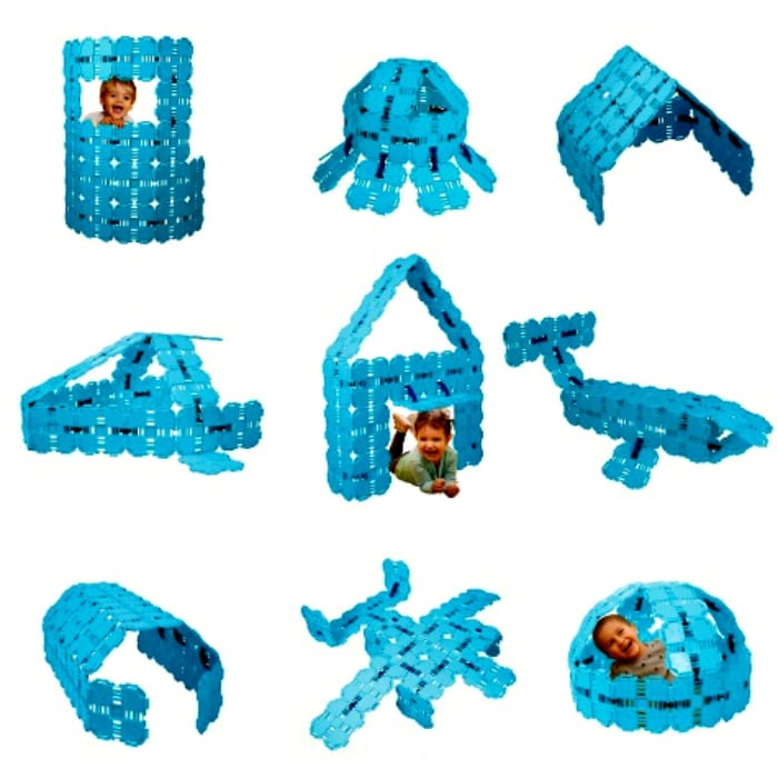 Fort Boards 43 Piece STEM Building Toy (Light Blue)