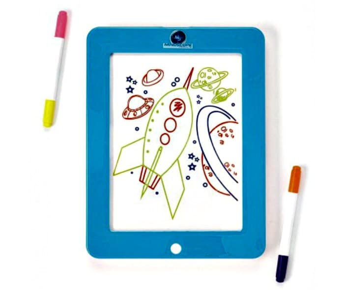 Mindscope Light Up LED GLOW PAD BLUE Animator with Glow Markers