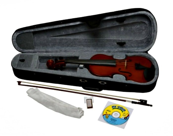 Violin set with bow, carrying case and CD-ROM