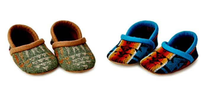 Pacific Northwest Wool Baby Booties from Uncommon Goods