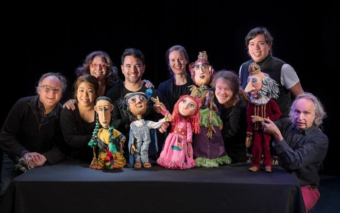 The cast and puppets of Sleeping Beauty Dreams