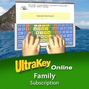 UltraKey is an online keyboarding program from Bytes of Learning. Intended for the whole family, this media-rich instruction teaches proper typing skills.
