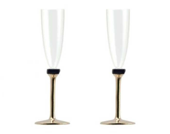 Designer champagne glasses make a great birthday, anniversary, or just-because gift for the special woman in your life!