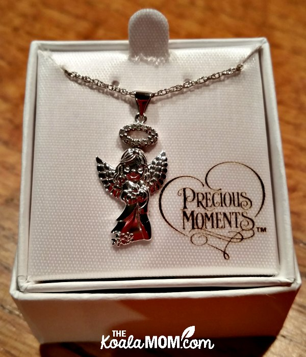 Precious Moments silver angel charm - a beautiful Mother's Day gift idea