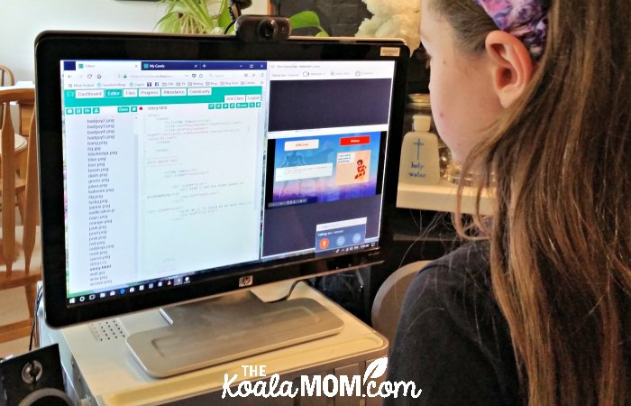 Sunshine takes one of the kids coding classes from CodeWizardsHQ