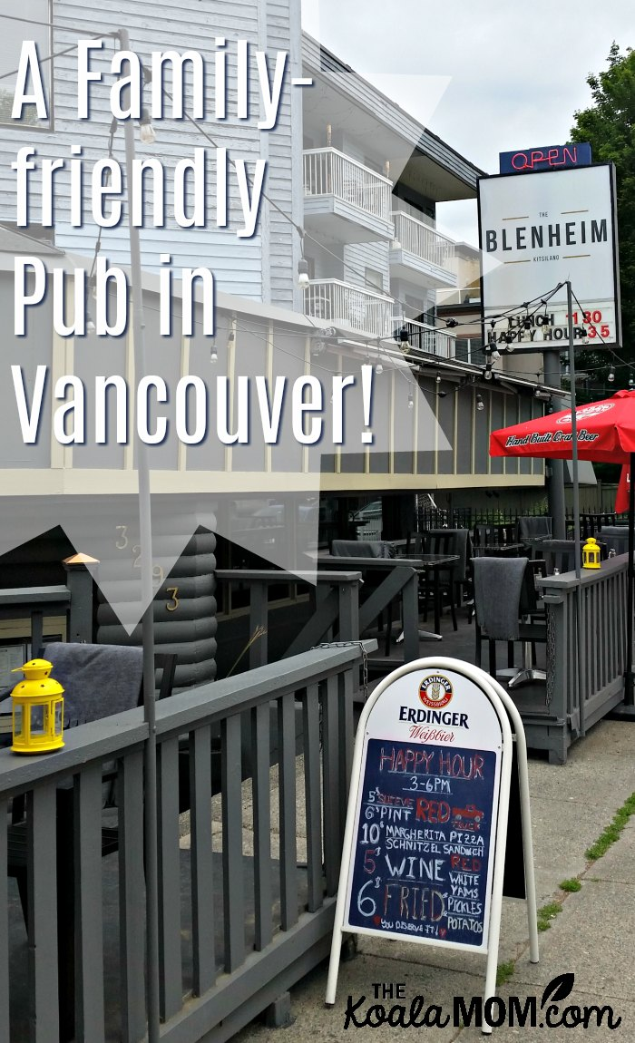 The Blenheim is a family-friendly pub in the Kitsilano neighbourhood in Vancouver, BC