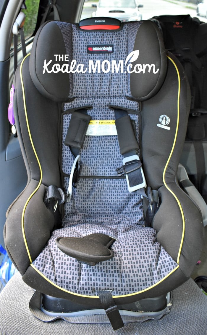 Britax Emblem convertible car seat, ready for a toddler to sit in.