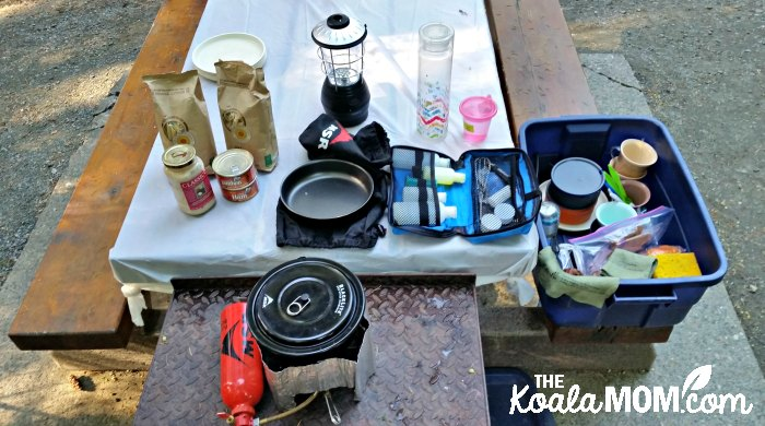 My camping kitchen.