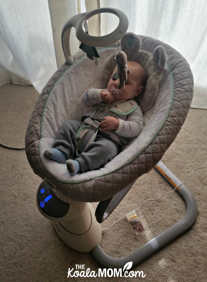 The Graco Everyway Soother keeps baby happy and gives mom's arms a break!