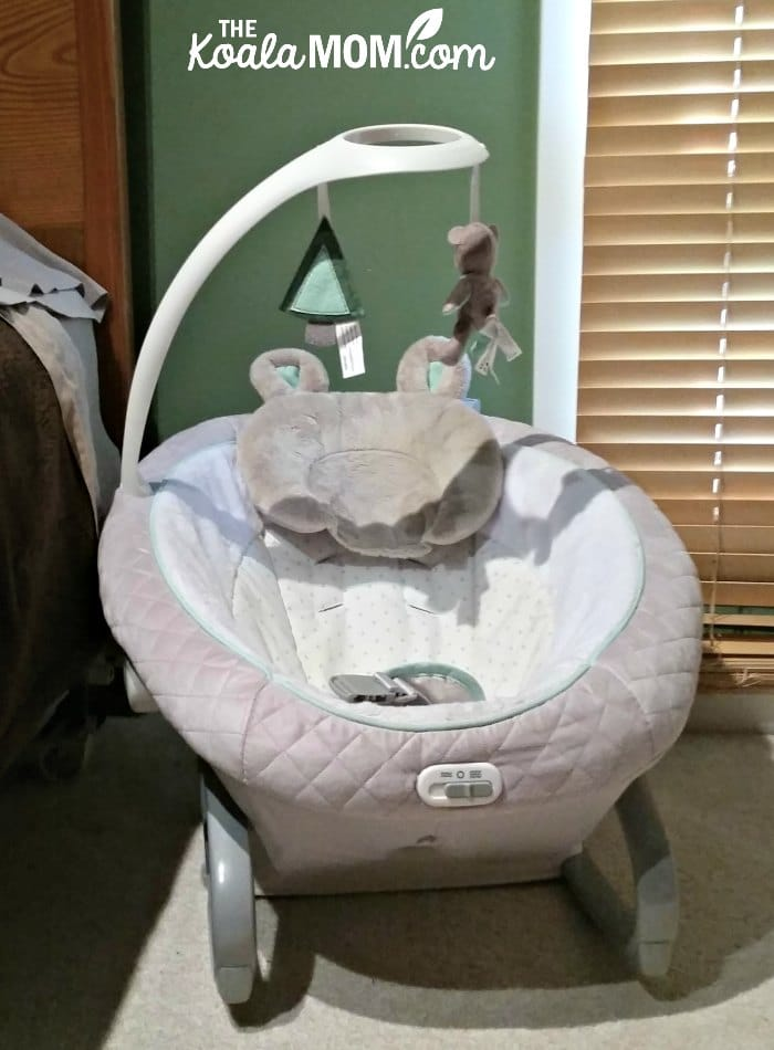 The Graco soother rocker chair