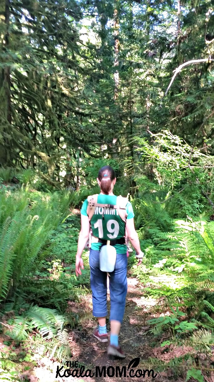 Mommy hiking at Cultus Lake.