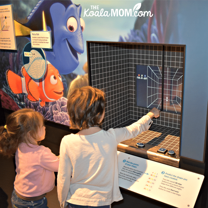 Two girls explore the science behind Pixar.